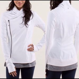 Lululemon white bhakti yoga jacket